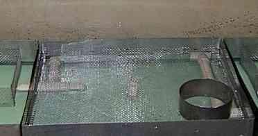 Фальшдно - сетка над заборными трубками